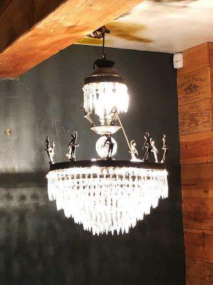 1920s Art Deco ballerina chandelier