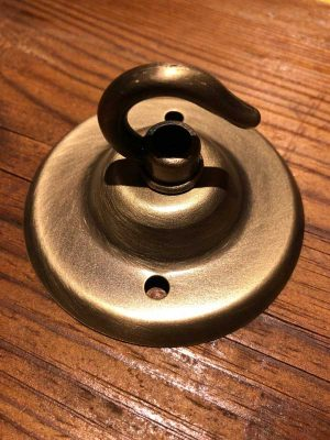 Standard faux brass ceiling hook